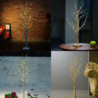 1.2/0.6m 24/48 LED Silver Birch Twig Tree Warm Light White Branches 8 Function