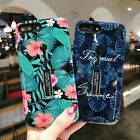 Cover For iPhone 6 6S 7 8 Plus X Foliage Phone Case Ring Holder Stand Hybrid