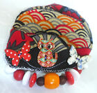 Handcrafted Fabric Brooch  Painted Buttons And Beads OneOf A Kind From Artist