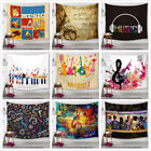 Colorful Music Note Tapestry Psychedlic Hippie Wall Hanging Dorm Bedspread Decor