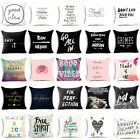 Funny Letters Polyester Throw Pillow  Cushion Cover Decorative Pillow Home Decor