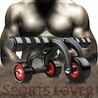 3-Wheel Fitness Ab Roller Workout Muscle Abdominal Abs Gym Stable Exerciser NS