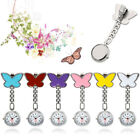 Chain Hanging Steel White Dial Nurse Fobwatch Butterfly Pocket Watch Brooch