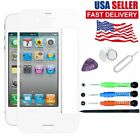 For iPhone 4 4S Front Outer Lens Screen Glass Replacement Repair Tools Kits Glue