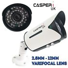 CASPERi VariFocal Bullet Camera 2MP 1080P AHD TVI CVI CVBS 2.8mm-12mm Lens IR