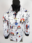 Mens Suslo Couture Shirt Slim Fit White with Colorful Bird Prints Button Front