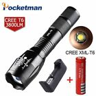 7200 Lumens 5-Mode T6 LED Flashlight with charger Zoomable rechargeable