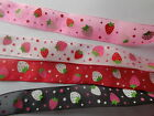 Assorted Patterned Satin or Organza Ribbon -choose colour width etc
