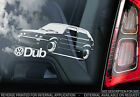 VW Golf MKII - Car Window Sticker - Volkswagen Dub Mark MK2 2 GTI 16v 8v Sign