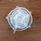 Universal Vacuum Lid Silicone Saran Food Wrap Bowl Pot Stretch Cover Kitchen 6pc