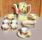 14 Piece Tea Set / Nippon / Teapot, 5 Cups & Saucers /Sugar & Creamer