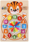 Clock Building Blocks Education Montessori Table Games Toy For Teaching Children