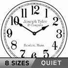 Simply White Wall Clock Wooden Wall Decor Non Ticking Ultra Quiet Movement