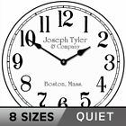 Simply White Wall Clock, large wall clock, Ultra Quiet, 8 sizes, Life Warranty