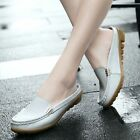 Women's Shoes Leather Mother Loafers Soft Leisure Flats Female Casual Footwear