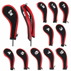 SET OF 12 Number Print Golf Club Iron Cover Durable Neoprene Zippered Head