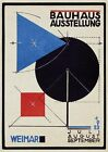Vintage 1920s Poster Bauhaus Ausstellung Weimar 1923 Abstract Modernist Germany
