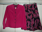 Miss Dorby Business Career Suit Outfit Jacket Skirt Dress Set  Size 8