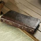 LG V20 V30 V40 ThinQ Antique Leather Wallet Retro Shockproof Vintage Book Case