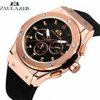 PAULAREIS Men's Watch Mechanical Wristwatches Self Wind Stainless Steel Leather image