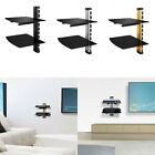 1 2 Floating Shelves Large Wall Mount Tempered Glass TV Accessories DVD Player