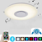 Dimmable LED Ceiling Fixtures Light Remote Control Bluetooth Speaker Lamp Shades