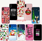 Christmas gift Fashionable bitch Transparent soft Phone Case for iphoneXS Max XR