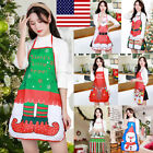Christmas Decoration Waterproof Apron Christmas Dinner Party Kitchen Cooking