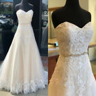 Sweetheart Lace Garden A Line Wedding Dresses Applique Bridal Ball Custom Size