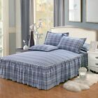 Bed Skirts Stripe Cotton Cover Single Double Sets Mattress Sheet Soft Protector