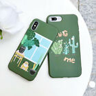 TPU Silicone Green Cactus Cartoon Phone Case Cover For iPhone X 8 7 6/6s Plus