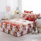 Bed Skirts 100% Polyester Quilted Thicken Mattress Cover Home Hotel Decoration image