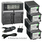 Kastar Battery LCD Dual Fast Charger for Canon BP-820 BP-828 OEM CG-800 Charger