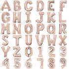 "ROSE GOLD GIANT 34"" Helium or SMALL Air 16""  Letter Number Foil BALLOON BIRTHDAY"