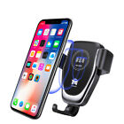 Fast Qi Wireless Car Charger Holder For iPhone XS Max XR 8 Plus Samsung S9 Plus
