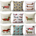 "18"" Cotton Linen Christmas Xmas Pillow Case Cushion Cover Bed Sofa Home Decor image"