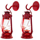 2 Rustic Lantern Wall Sconce - Large Red-Muskoka Lifestyle Products USA