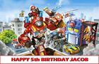 Transformers Rescue Bots Edible image Cake topper decoration
