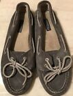 Sperry Top Sider Womens Grey Suede Comfort Mocassin Shows Womens Size 7m