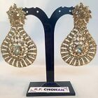 Diamante sparkle bling Gold Fashion earrings,prom,party,bridesmaid SV5-620G/LCT