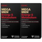 90/180CT GNC Mega Men Energy & Metabolism Dietary Supplements Caplets - GNC 90ct
