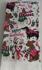 HAPPY CHRISTMAS WITH THESE DOGGIE KITCHEN /HAND TOWELS