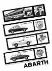 1958 Fiat Abarth 750 Coupe Spider #7 Vintage Car Poster Print Wall Art Sign Auto
