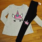 Внешний вид - NWT Justice Girls Outfit Top/Legging Size 6 7  8 10 Unicorn