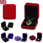 Uk Velvet Jewellery Earring Necklace Display Storage Organizer Box Case Holder