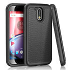 For Motorola Moto G4 / G4 Plus Shockproof Hybrid Rubber Impact Bumper Case Cover