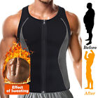 Men's Sauna Sweat Vest Body Shapewear Thermo Waist Trainer Gym Workout Top Shirt