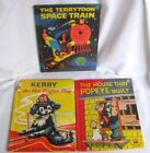 3 Children Books Popeye, Terry Tunes Space Train & Kerry-Fire Dog Pre-Owned