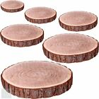 Natural Wood Log Slice Tree Bark Rustic Wedding Table Centerpiece Cake Stand