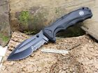 USMC Spring Assisted Knife Black Einhandmesser Taschenmesser Linerlock 01US014
